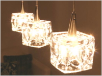 GLASS CUBE LAMP(3灯)