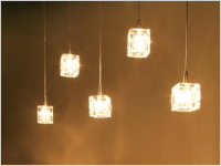 GLASS CUBE LAMP(5灯)